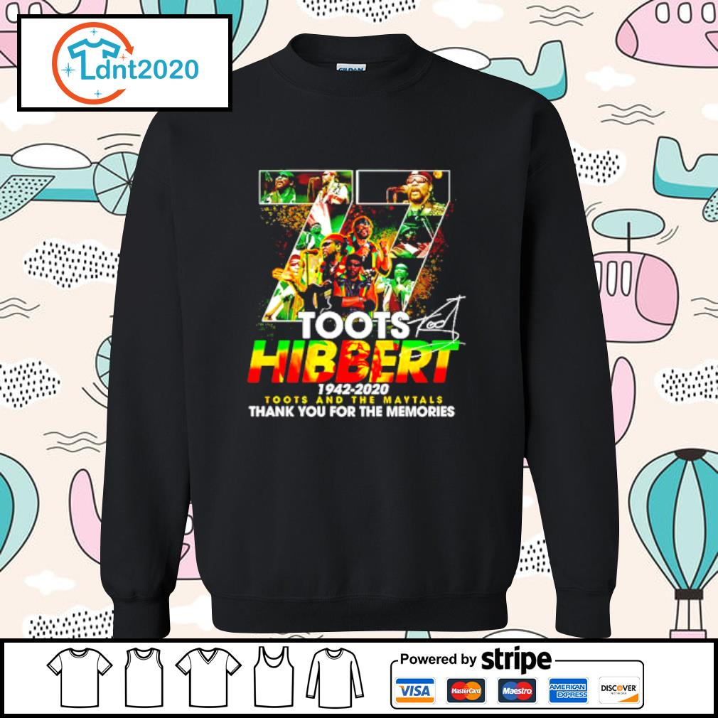 77 Toots Hibbert 1942 2020 Toots And The Maytals Thank You For The Memories Signature s sweater