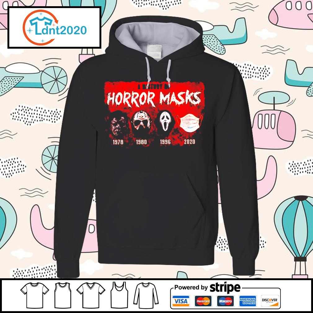 A history of horror masks 1978 1980 1996 2020 s hoodie