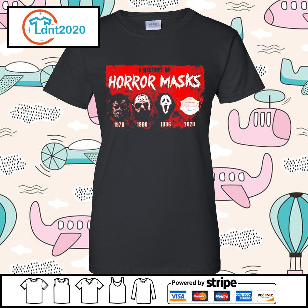 A history of horror masks 1978 1980 1996 2020 s ladies-tee