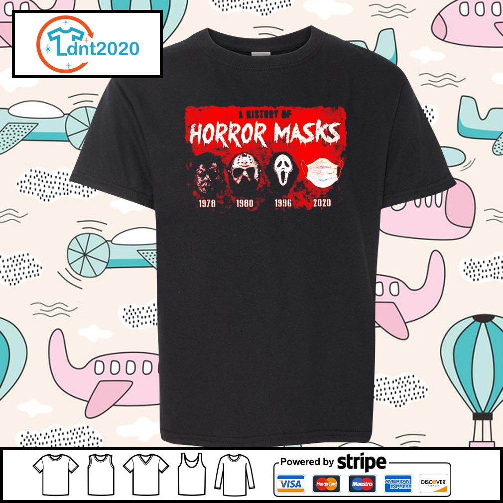 A history of horror masks 1978 1980 1996 2020 s youth-tee