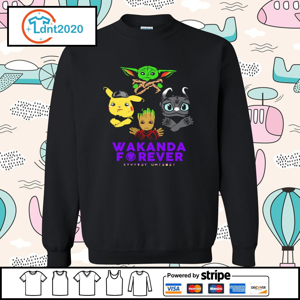 Baby yoda pikachu baby groot night fury wakanda forever s sweater