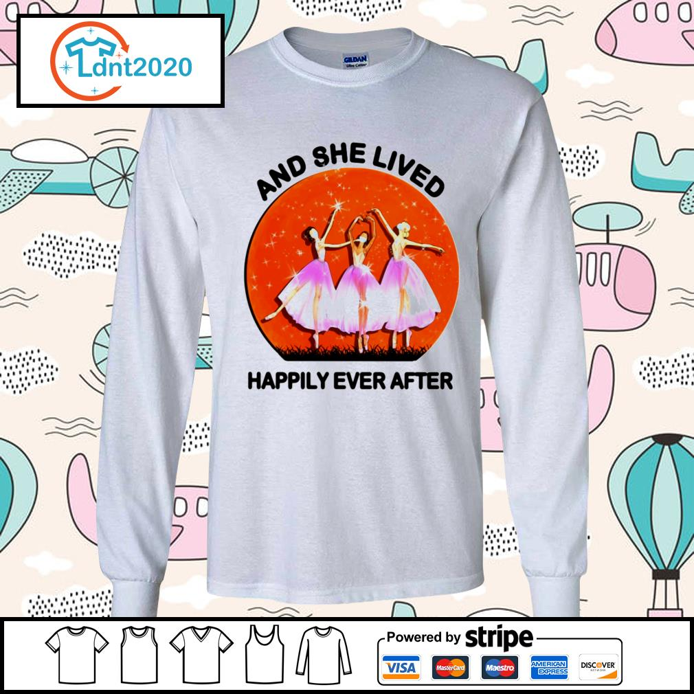 Ballet girls mask and she lived happily ever after halloween s longsleeve-tee