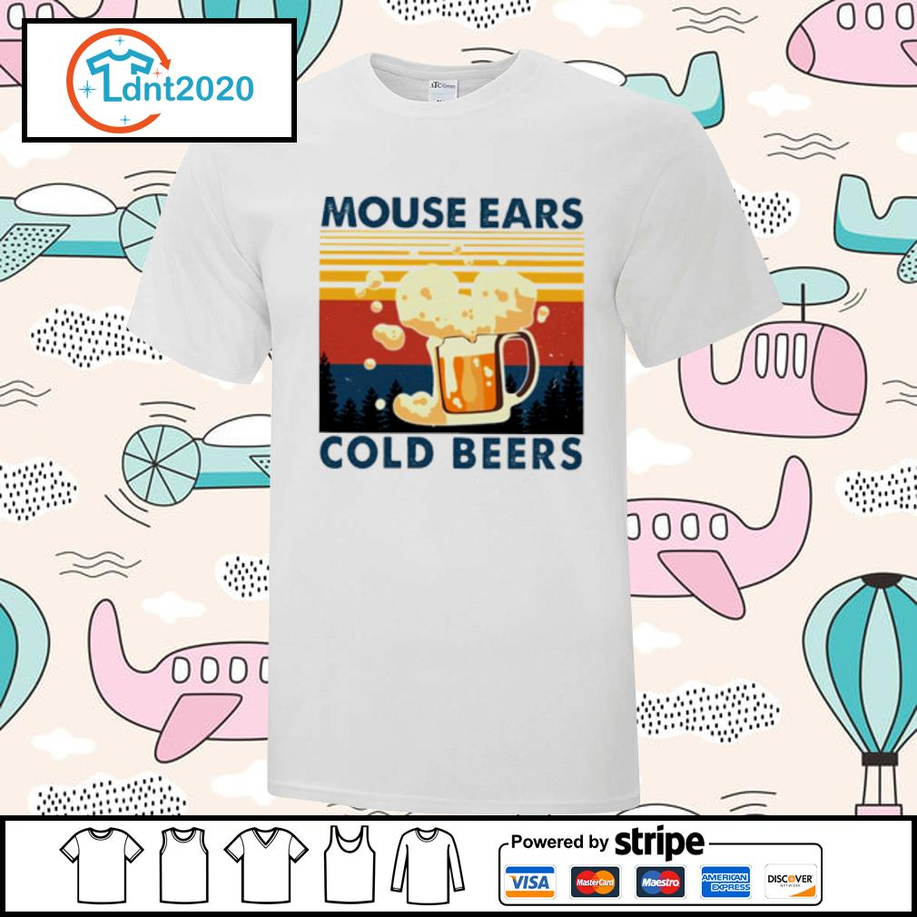 Beer mouse ears cold beers vintage shirt