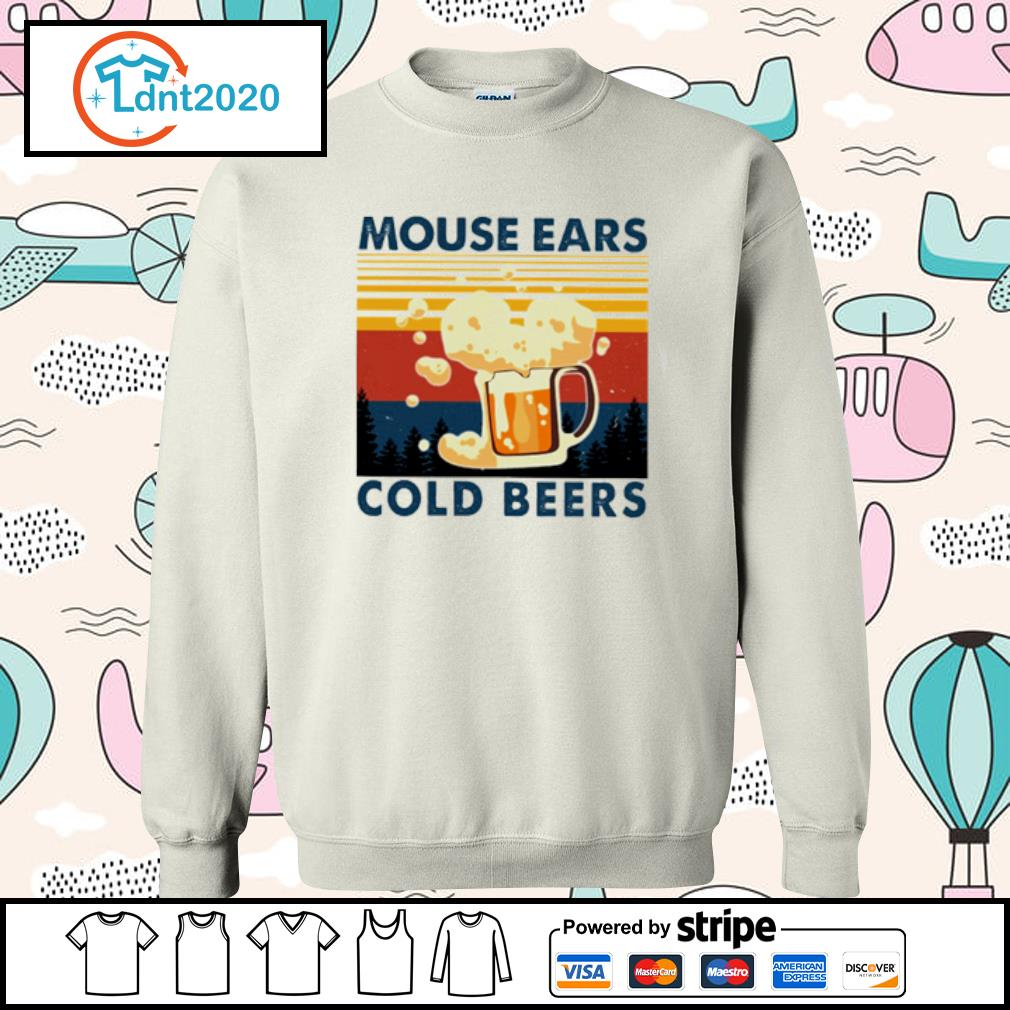 Beer mouse ears cold beers vintage s sweater