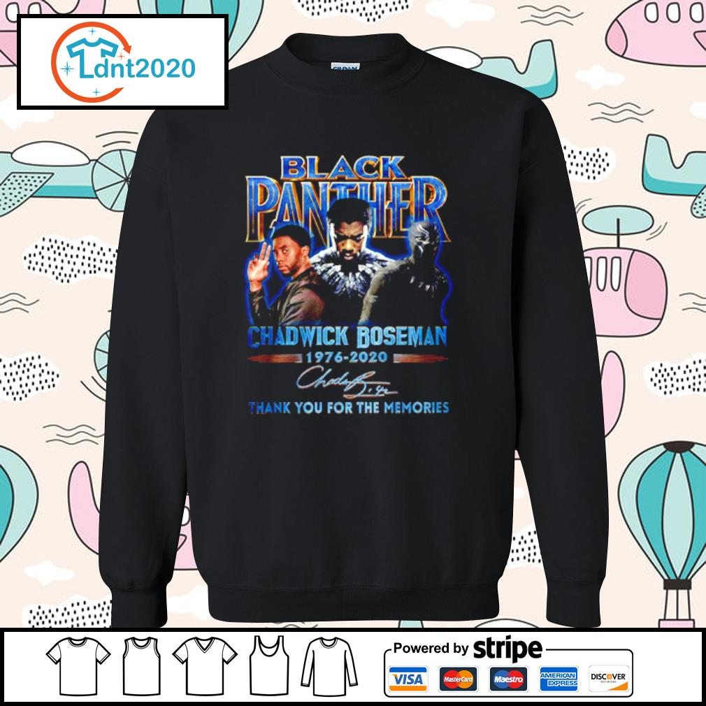 Black panther Chadwick Boseman 1976-2020 thank you for the memories s sweater