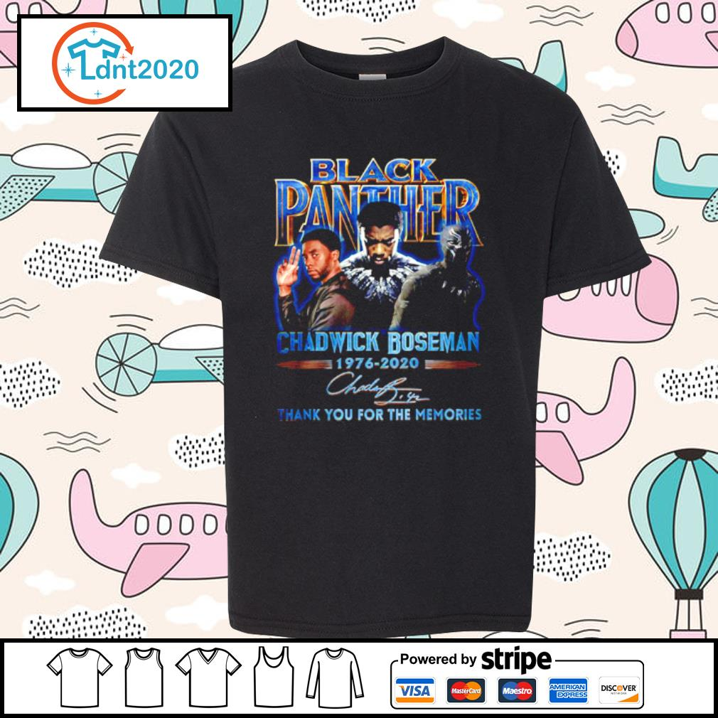 Black panther Chadwick Boseman 1976-2020 thank you for the memories s youth-tee