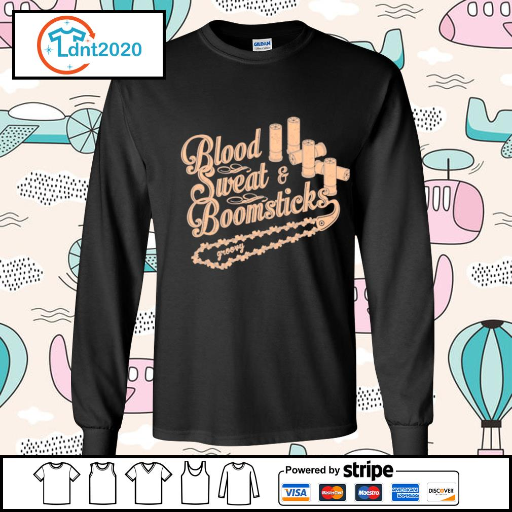 Blood sweat and boomsticks groovy s longsleeve-tee