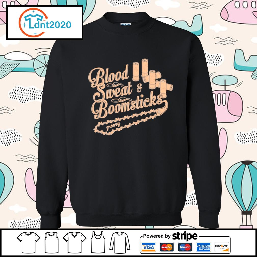 Blood sweat and boomsticks groovy s sweater