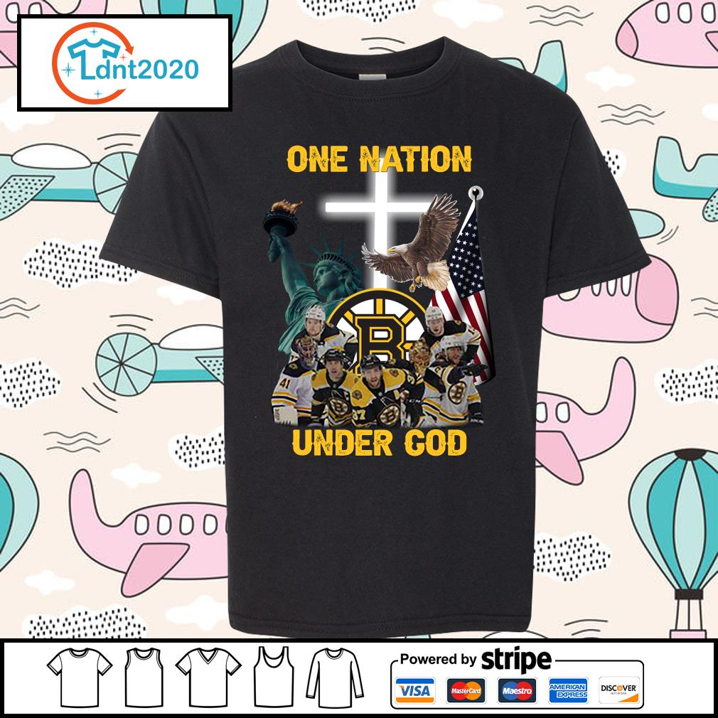 Boston Bruins one nation under god s youth-tee
