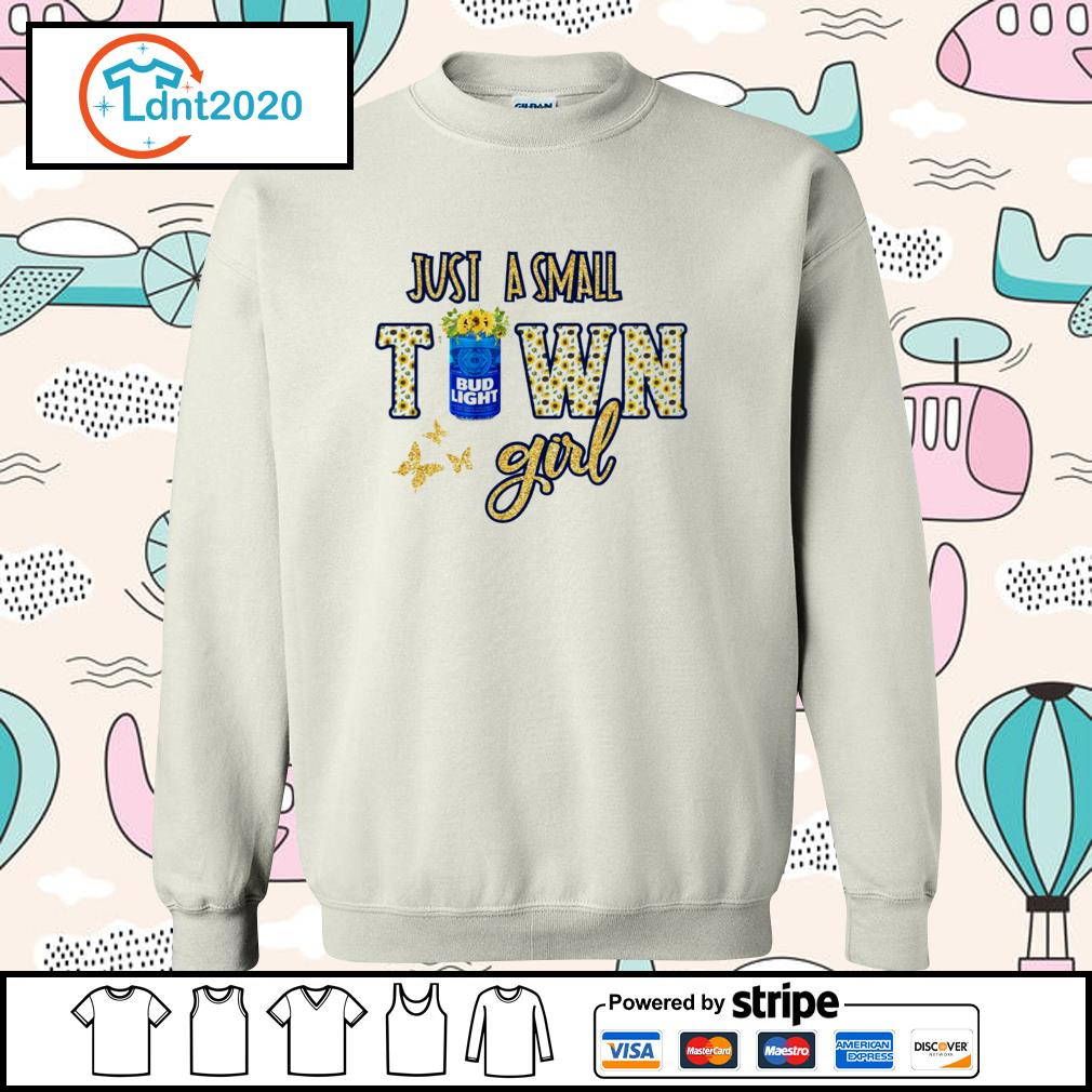 Bud Light flower just a small town girl s sweater