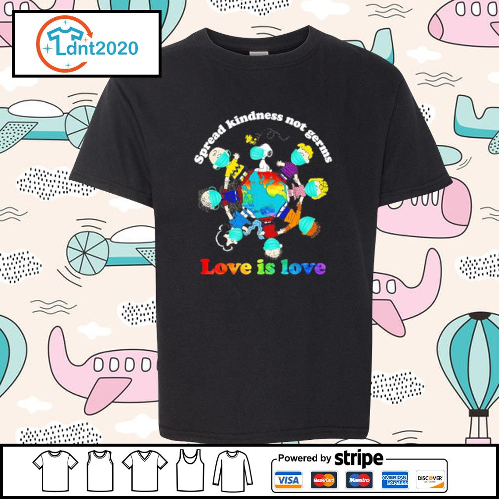 Charlie Brown Friends spread kindness not germs love is love youth-tee