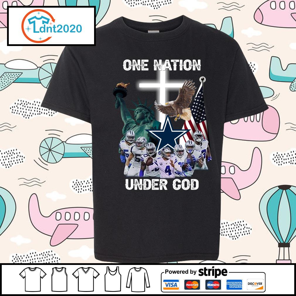 Dallas Cowboys one nation under god s youth-tee