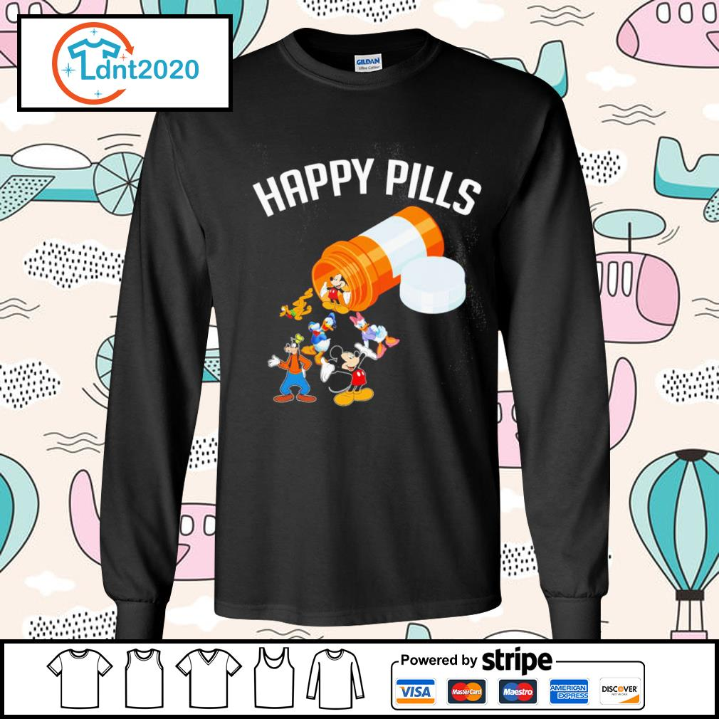 Disney Mickey Mouse and friends happy pills s longsleeve-tee