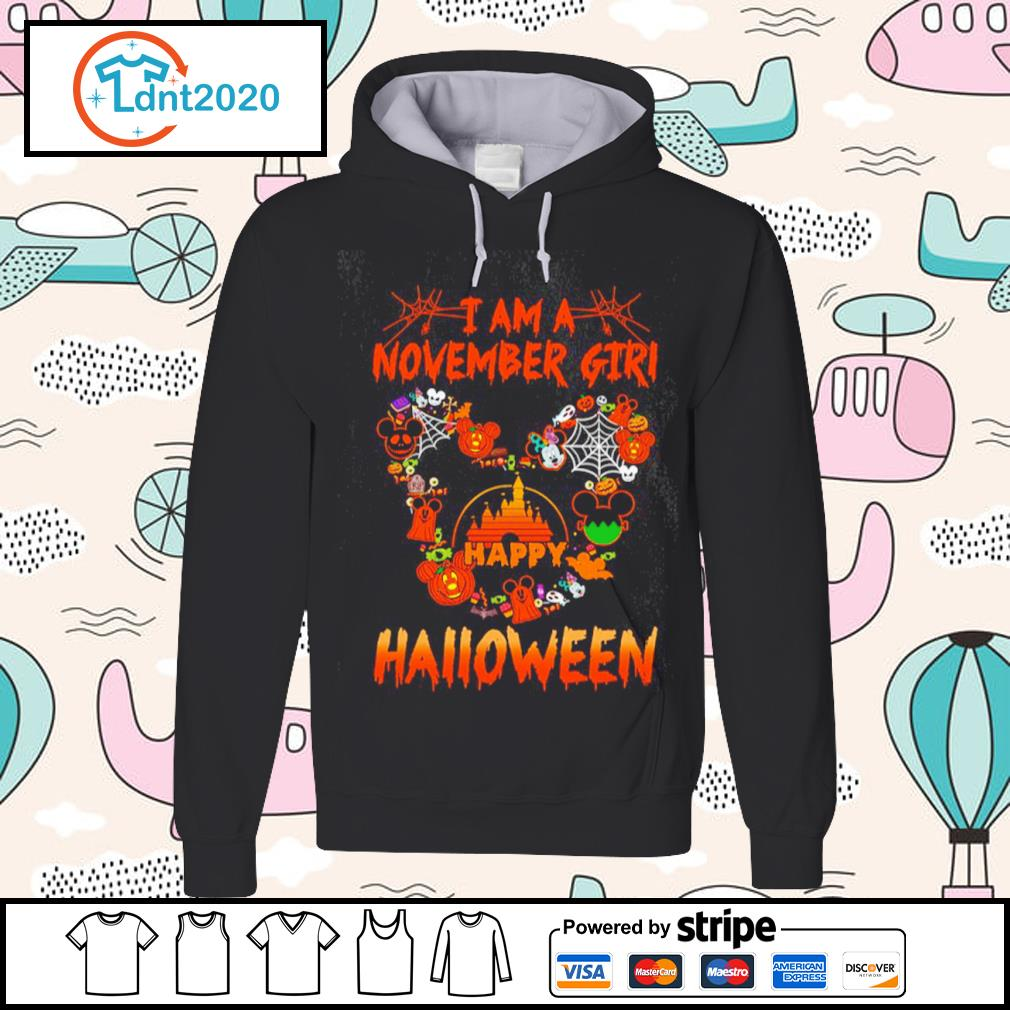 Disney Mickey Mouse I am a November girl happy Halloween s hoodie
