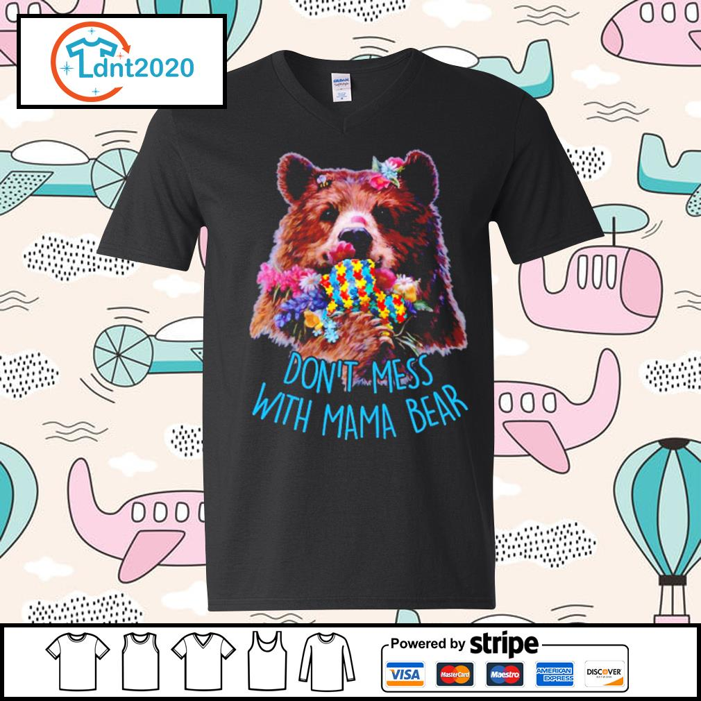 Don't mess with mama bear s v-neck-t-shirt