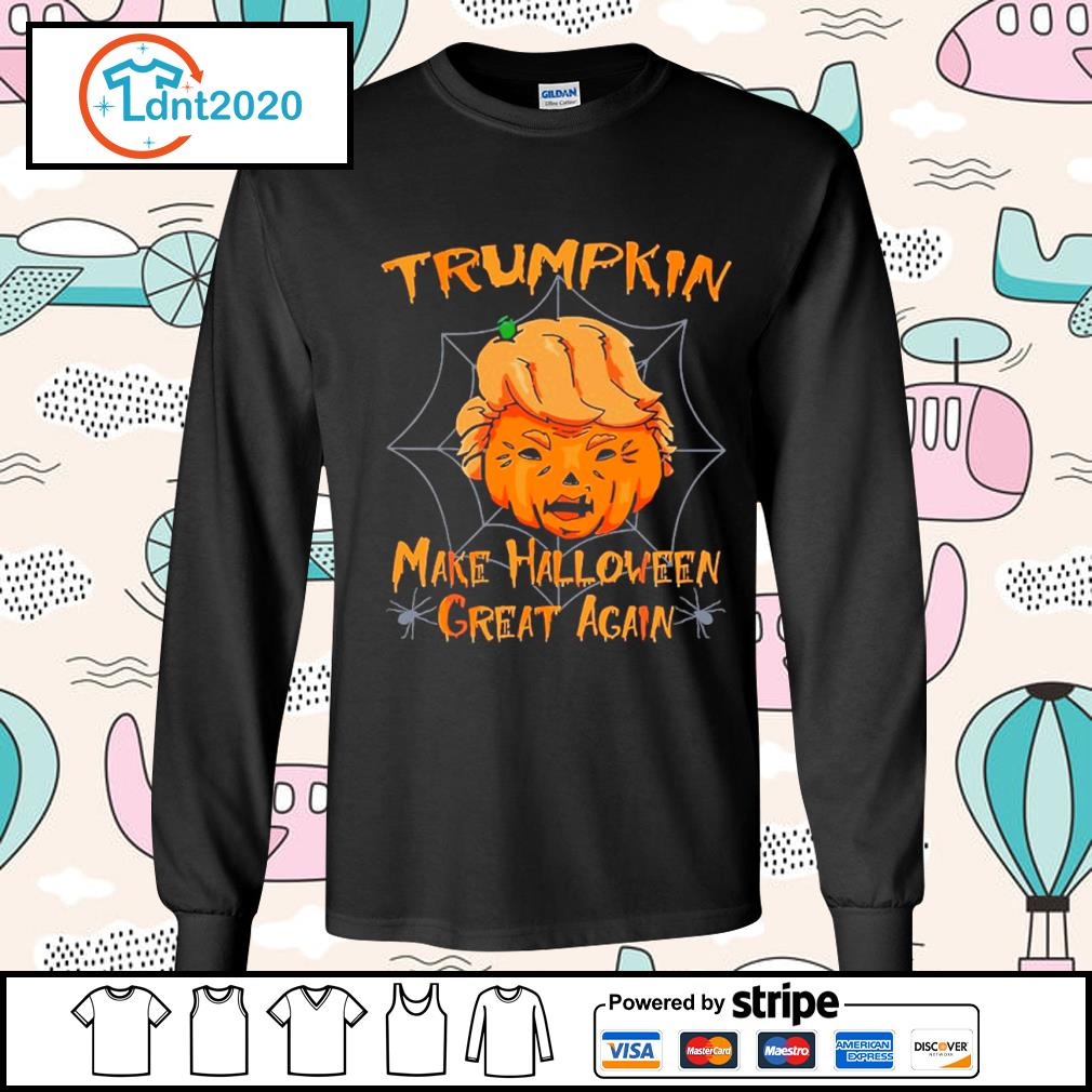 Donald Trump Trumpkin make Halloween great again s longsleeve-tee