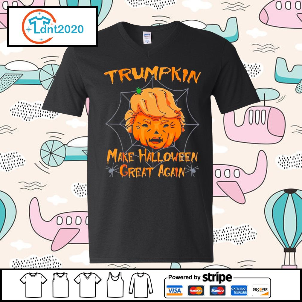 Donald Trump Trumpkin make Halloween great again s v-neck-t-shirt