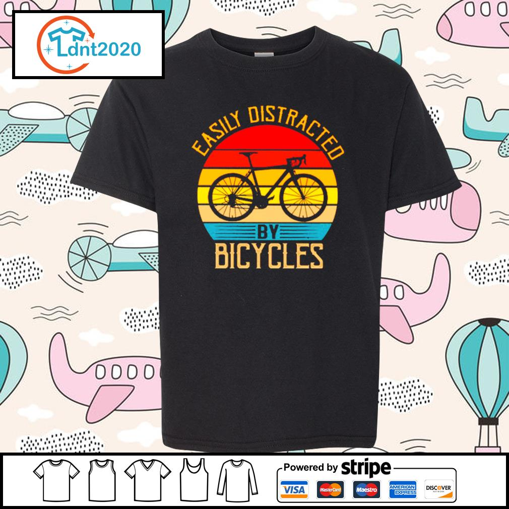 Easily distracted by bicycles vintage s youth-tee