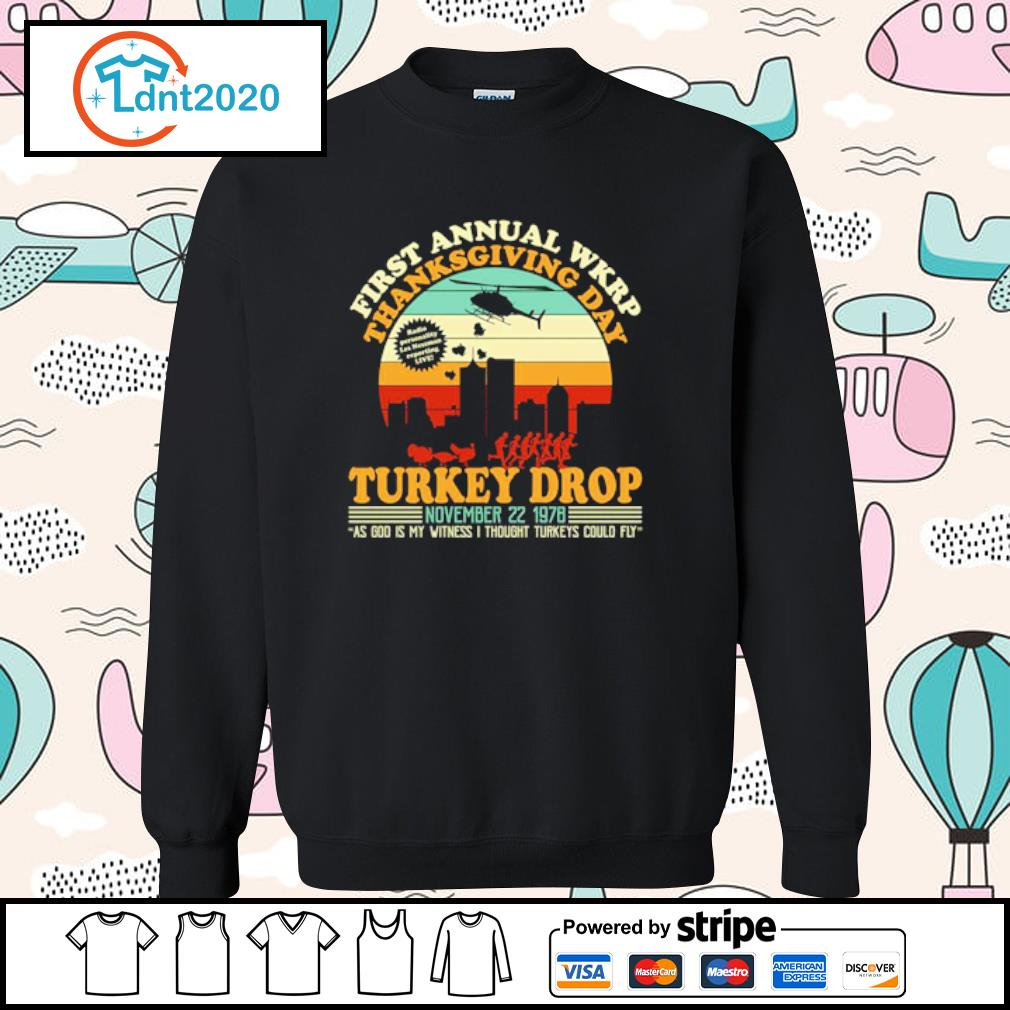 First annual WKRP Turkey drop Thanksgiving day November 22 1978 vintage s sweater