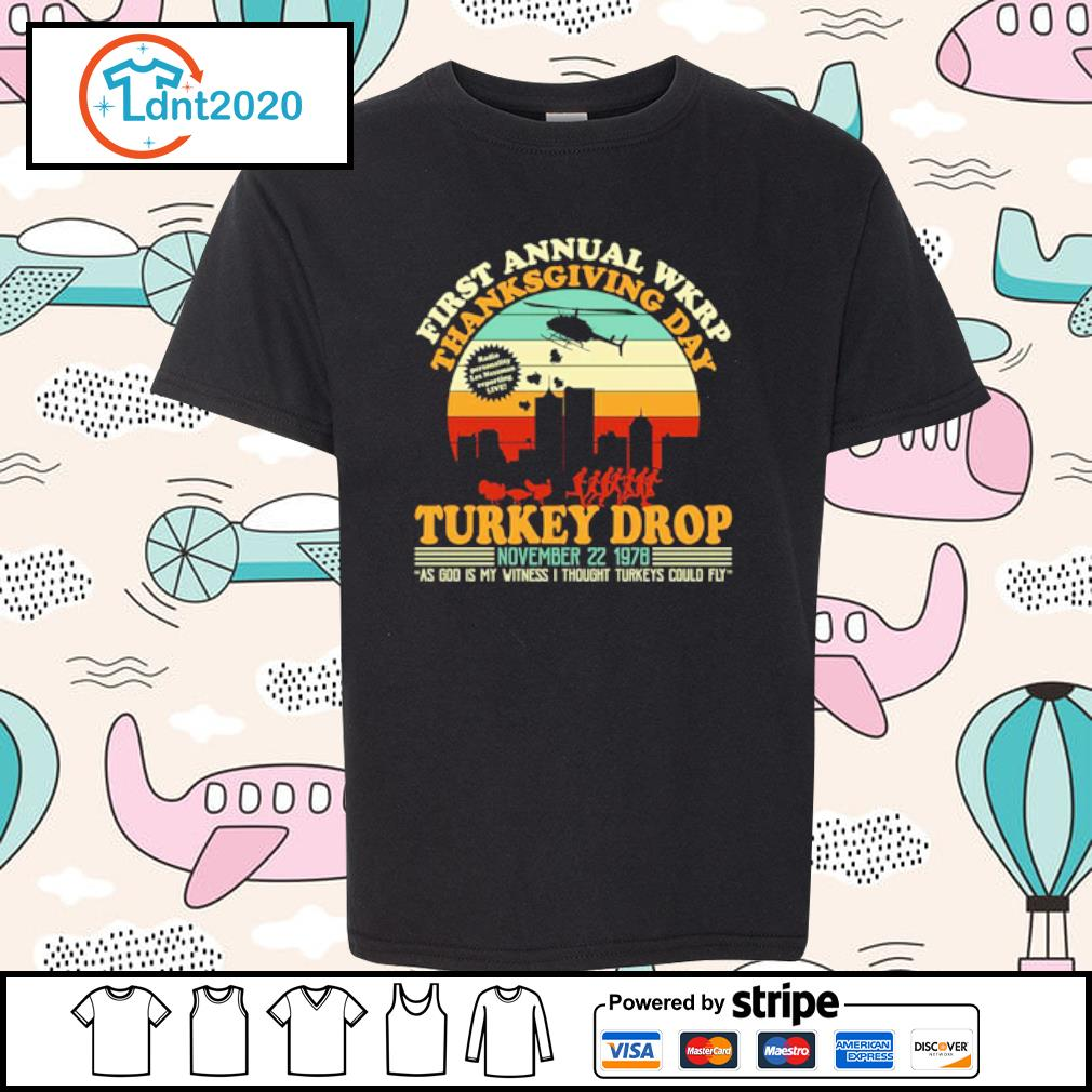 First annual WKRP Turkey drop Thanksgiving day November 22 1978 vintage s youth-tee