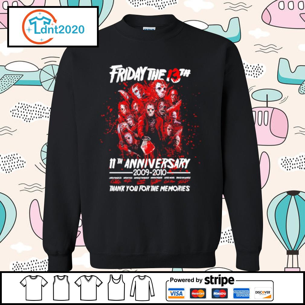 Friday The 13th 11th anniversary 2009-2020 thank you for the memories s sweater