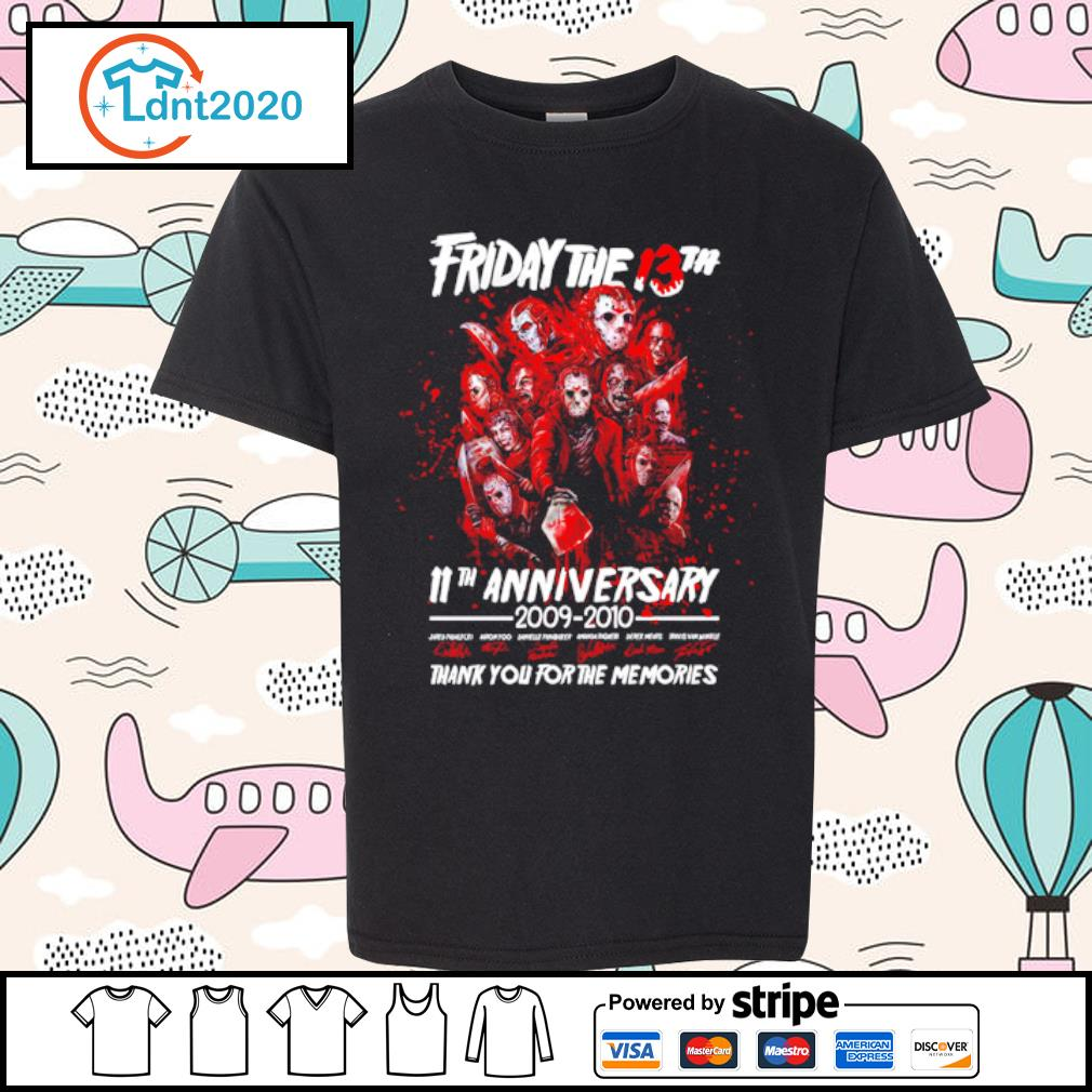 Friday The 13th 11th anniversary 2009-2020 thank you for the memories s youth-tee