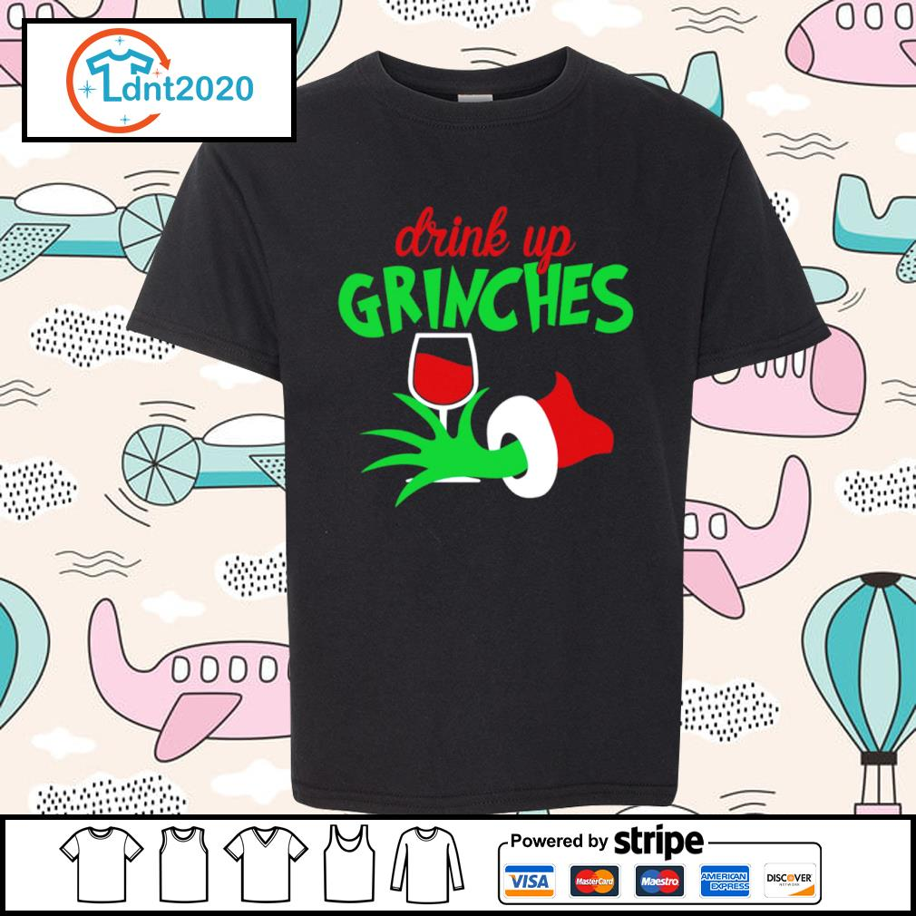 Grinch drink up Grinches glitter wine s youth-tee