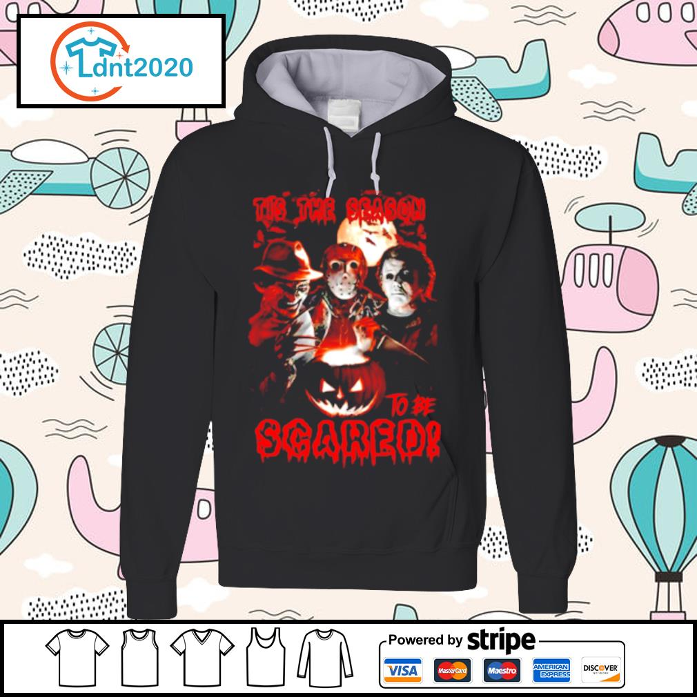 Halloween horror characters tis the season to be scared s hoodie