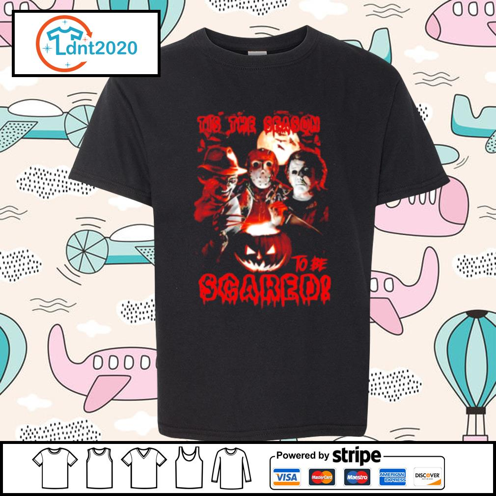Halloween horror characters tis the season to be scared s youth-tee