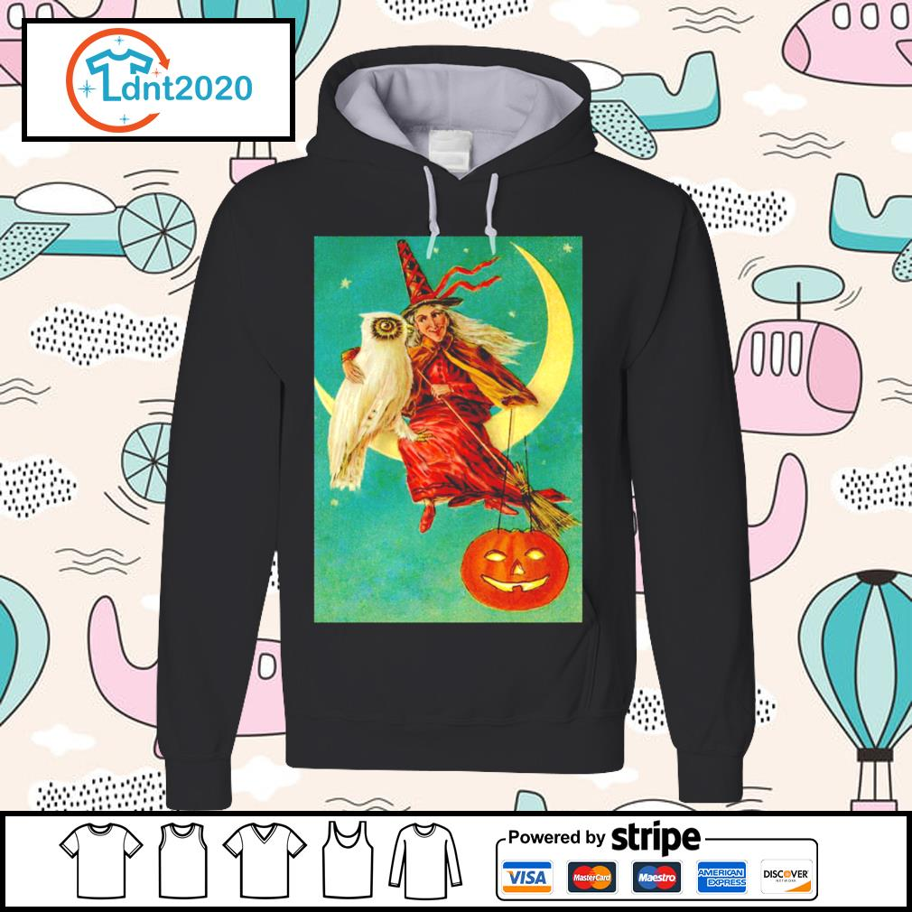 Halloween owl witch pumpkin moon s hoodie