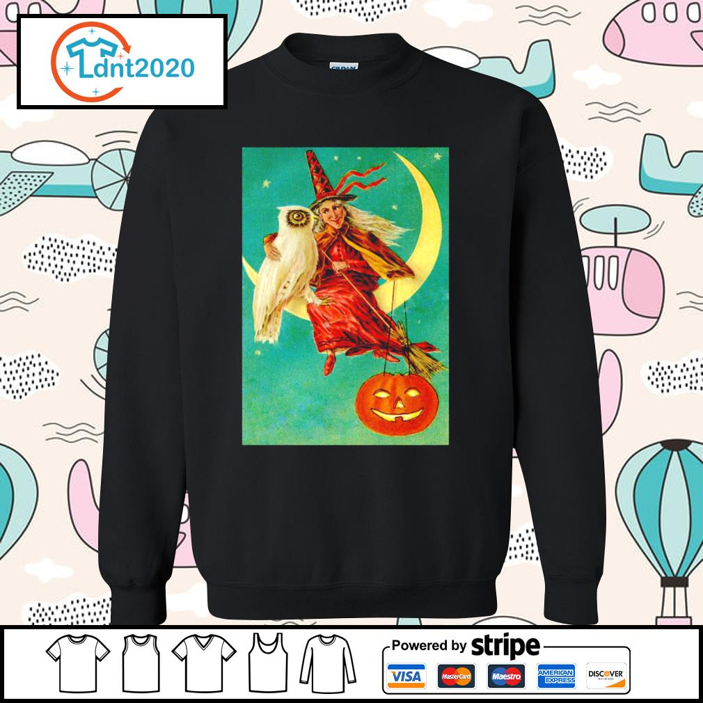 Halloween owl witch pumpkin moon s sweater