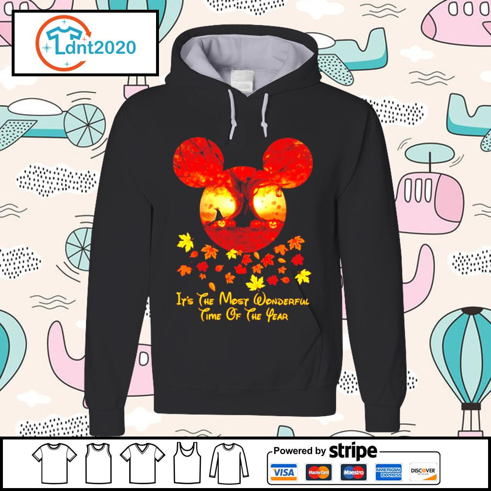 Halloween pumpkin Mickey mouse it's the most wonderful time of the year s hoodie