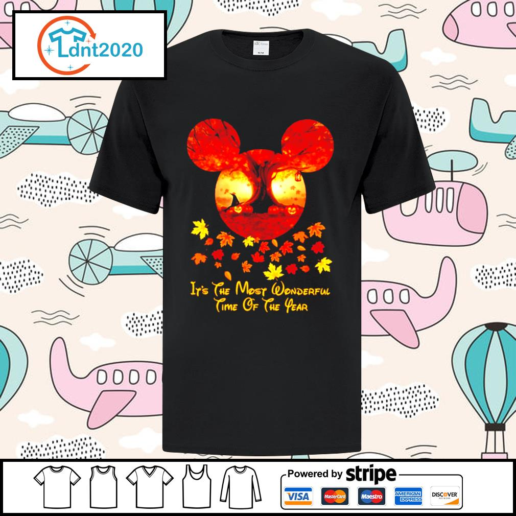Halloween pumpkin Mickey mouse it's the most wonderful time of the year shirt