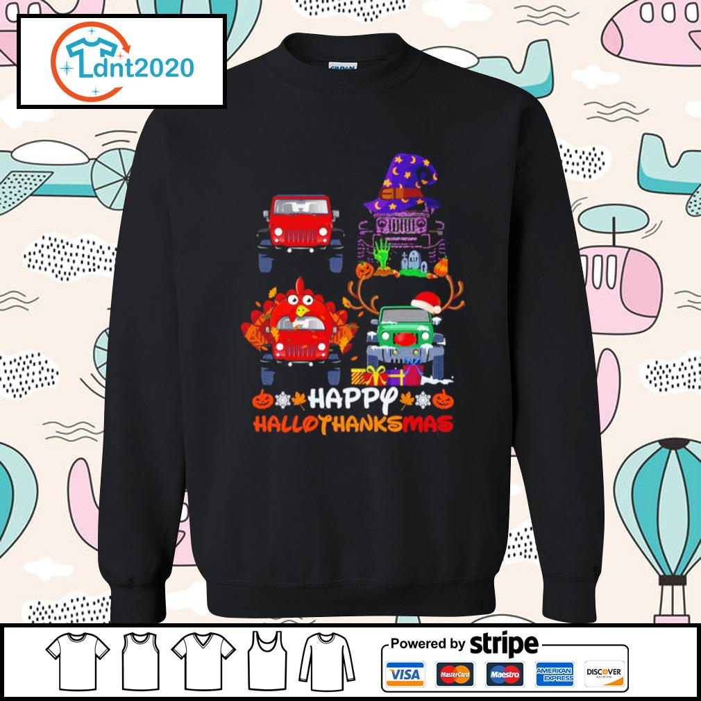 Happy Hallothanksmas Jeeps Shirt sweater