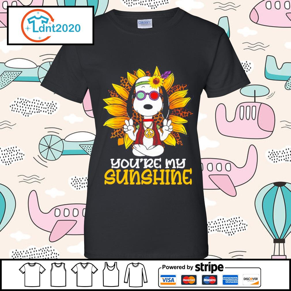 Hippie Snoopy sunflower you're my sunshine s ladies-tee