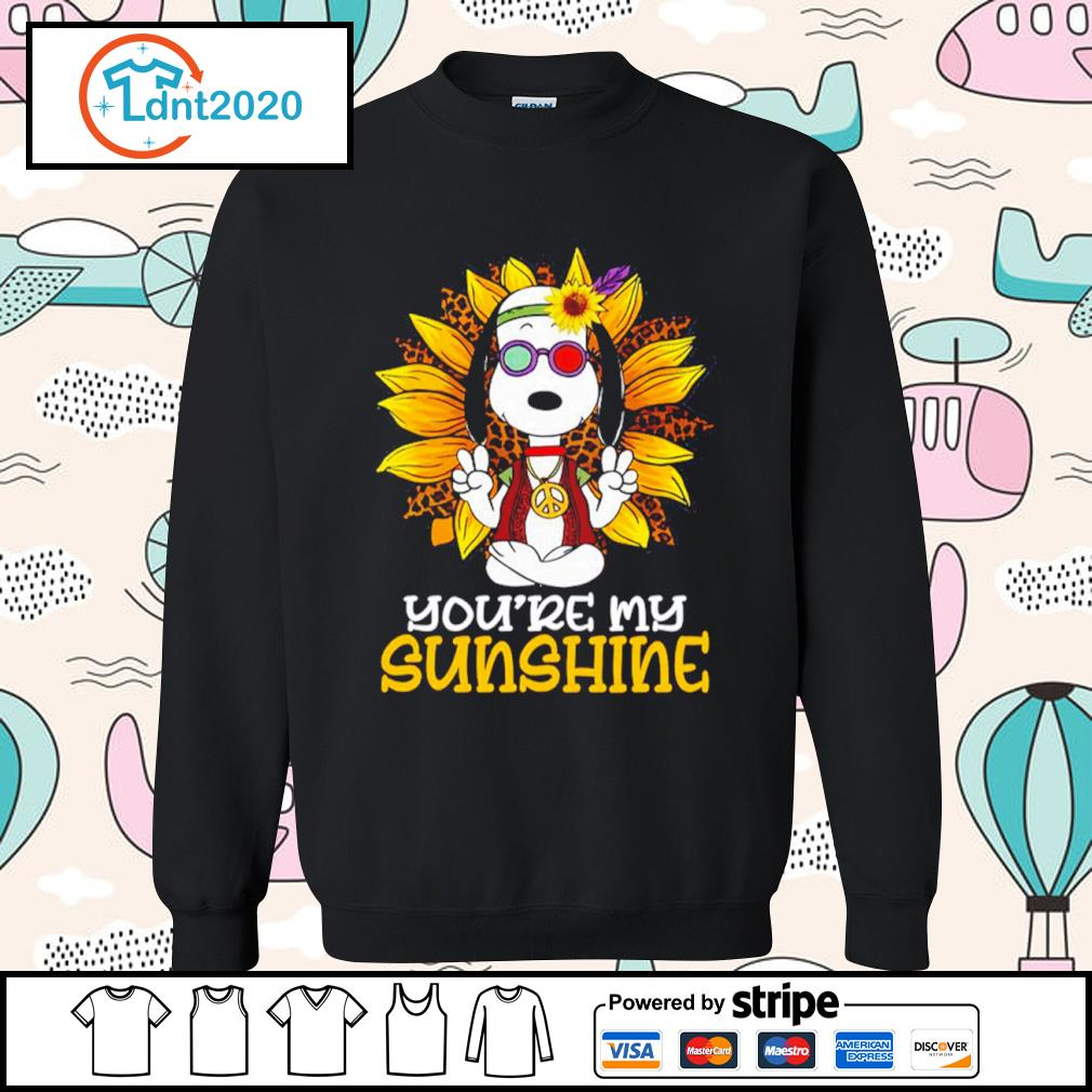 Hippie Snoopy sunflower you're my sunshine s sweater