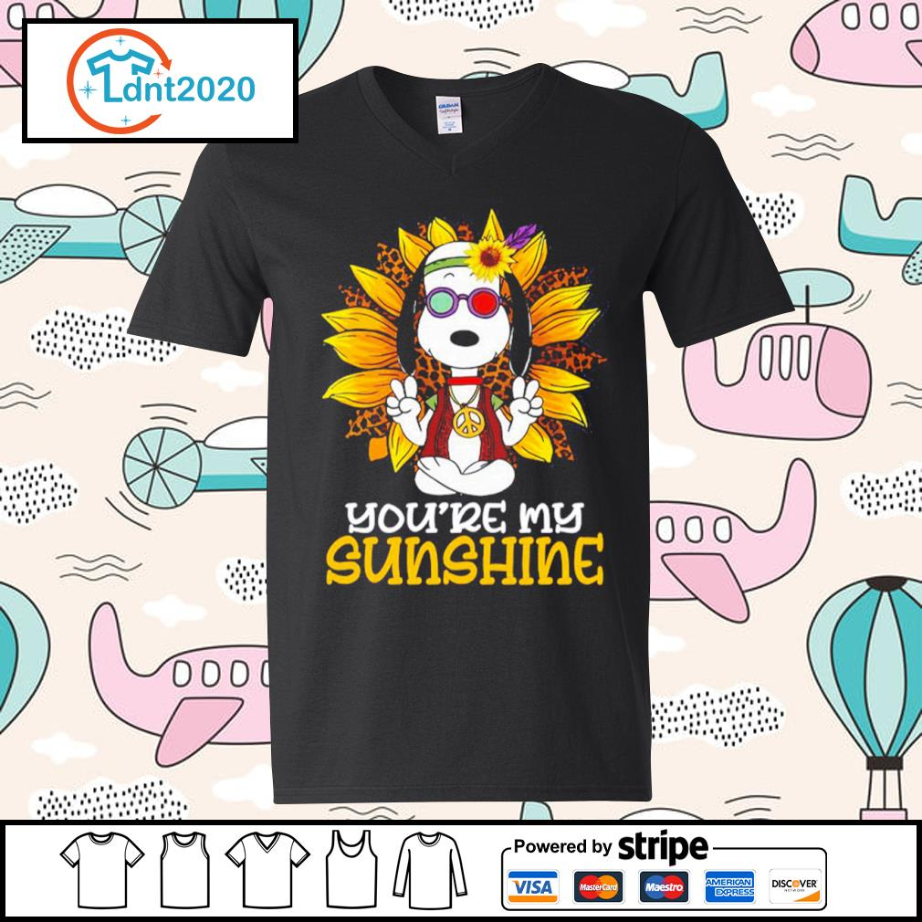 Hippie Snoopy sunflower you're my sunshine s v-neck-t-shirt