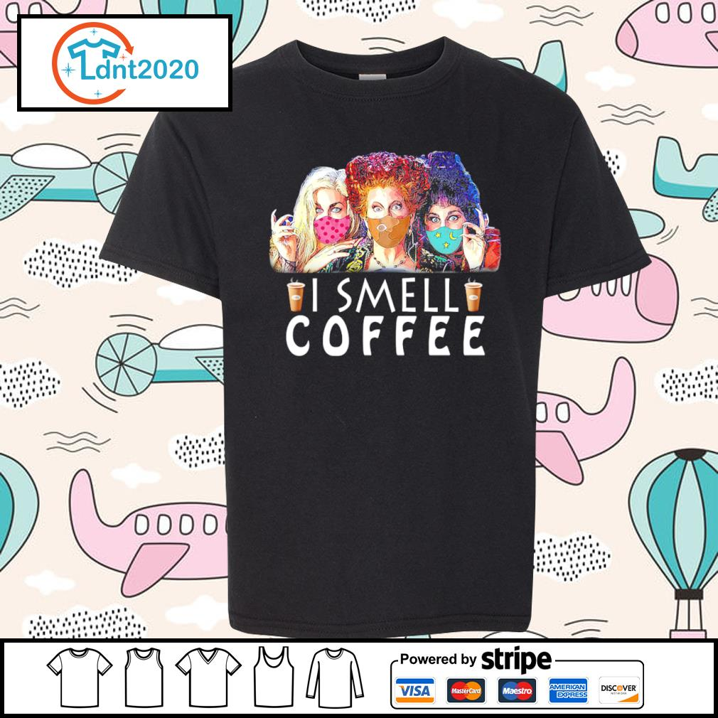 Hocus Pocus face mask I smell coffee s youth-tee