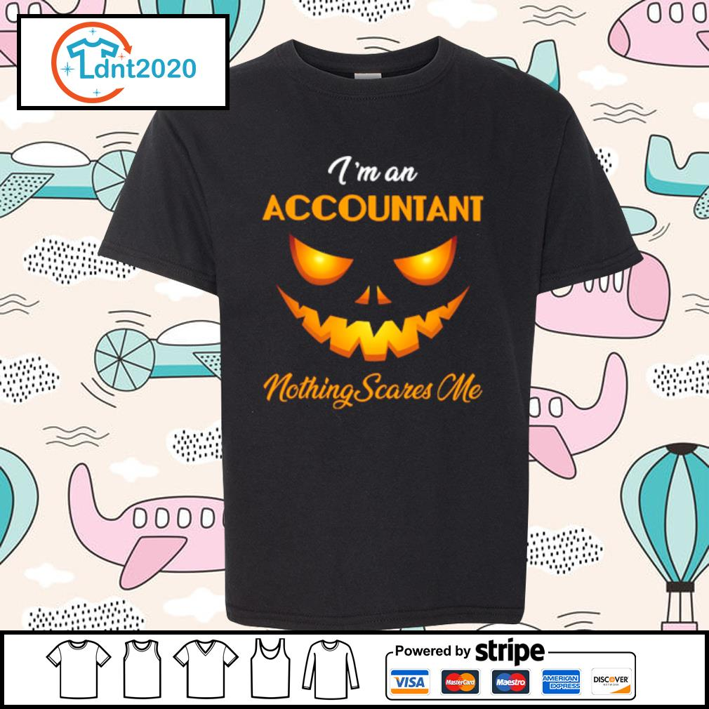 I'm an accountant nothing scares me halloween s youth-tee