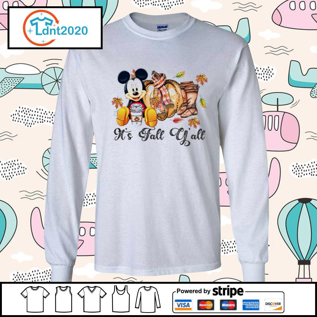 It's fall y'all mouse mickey s longsleeve-tee