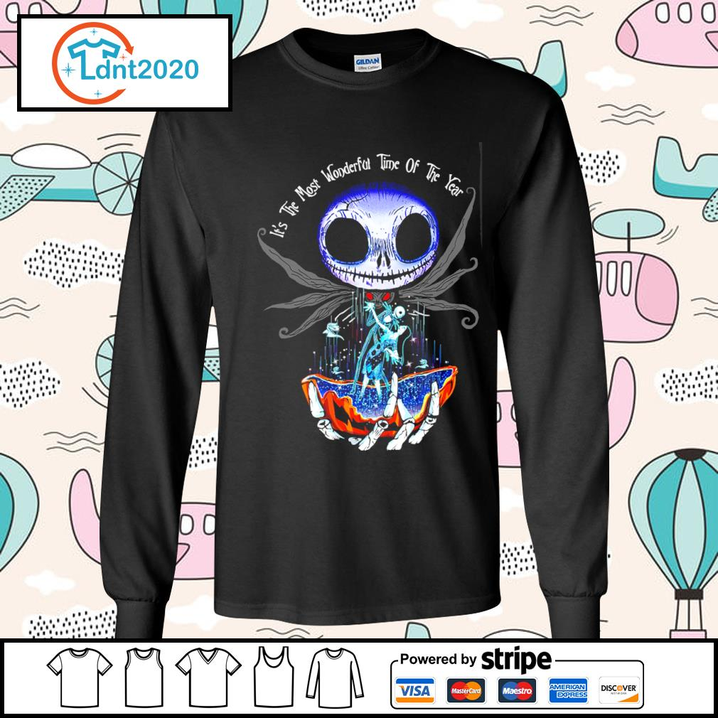 Jack Skellington and Sally it's the most wonderful time of the year s longsleeve-tee
