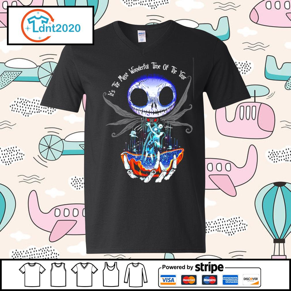 Jack Skellington and Sally it's the most wonderful time of the year s v-neck-t-shirt