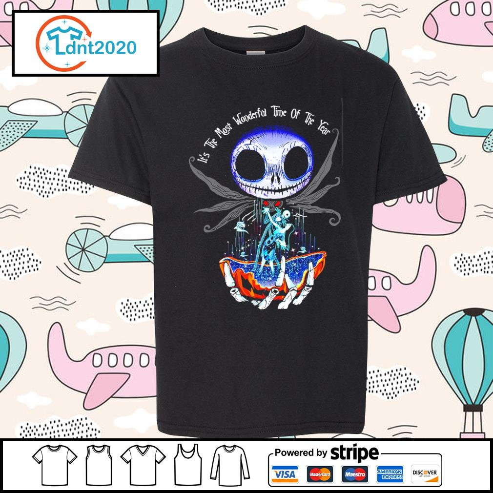 Jack Skellington and Sally it's the most wonderful time of the year s youth-tee