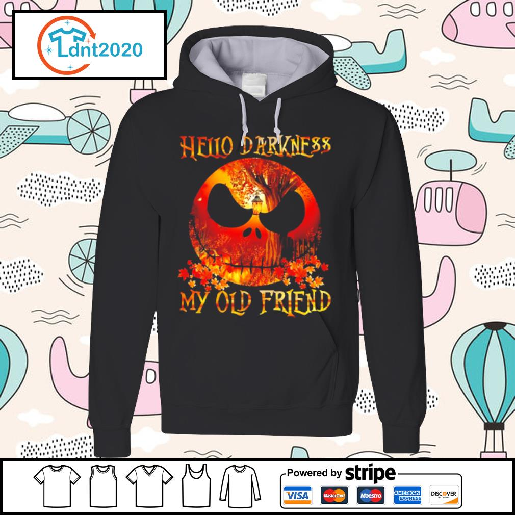 Jack Skellington Hello darkness my old friend s hoodie