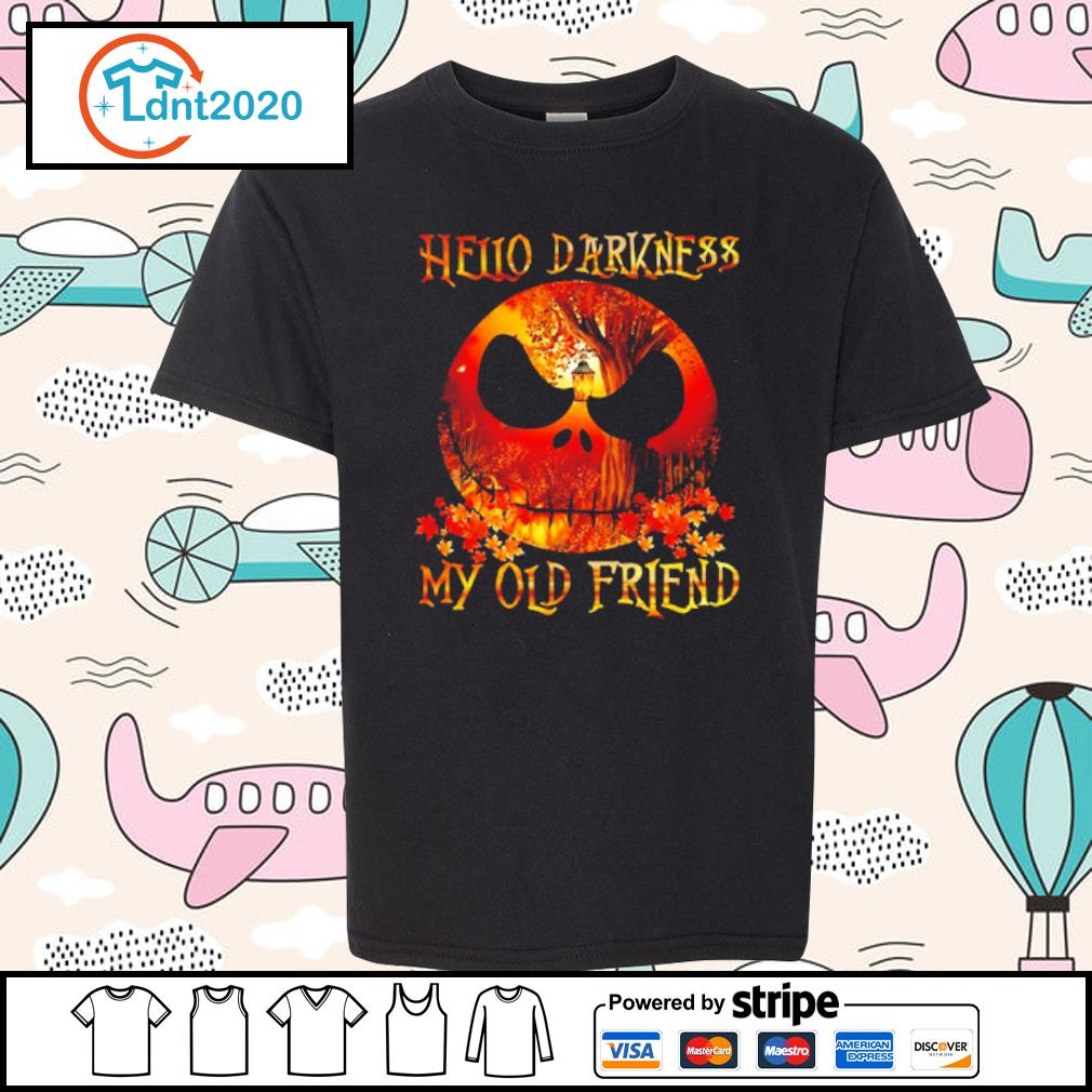 Jack Skellington Hello darkness my old friend s youth-tee