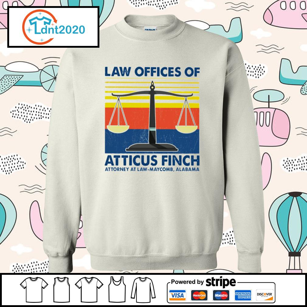 Law offices of atticus finch attorney atlaw-maycomb alabama vintage s sweater