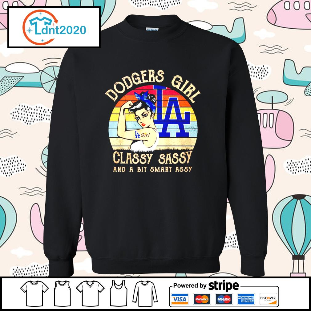 Los Angeles Dodgers girl classy sassy and a bit smart assy vintage s sweater