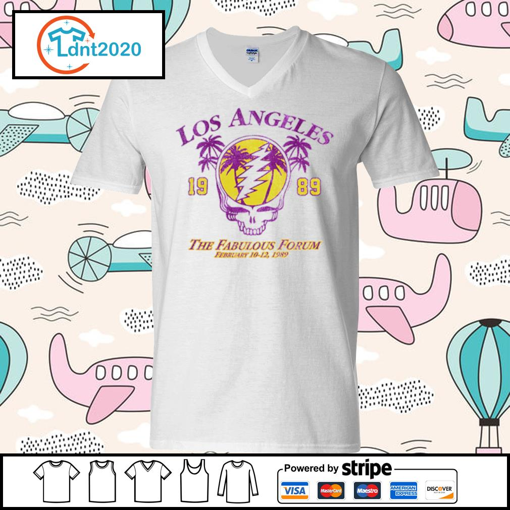 Lost Angeles the fabulous forum February 1989 s v-neck-t-shirt