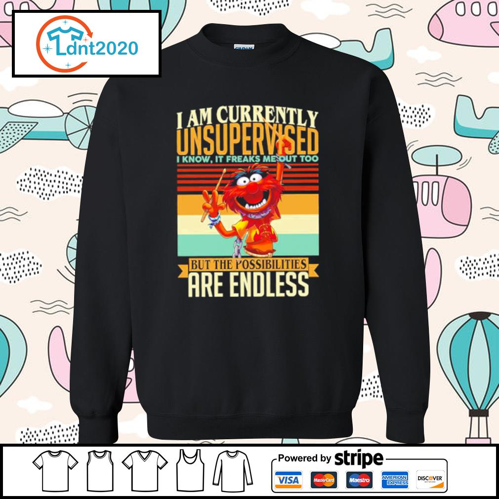 Muppets Drummer I am currently unsupervised I know it freaks me out too vintage s sweater