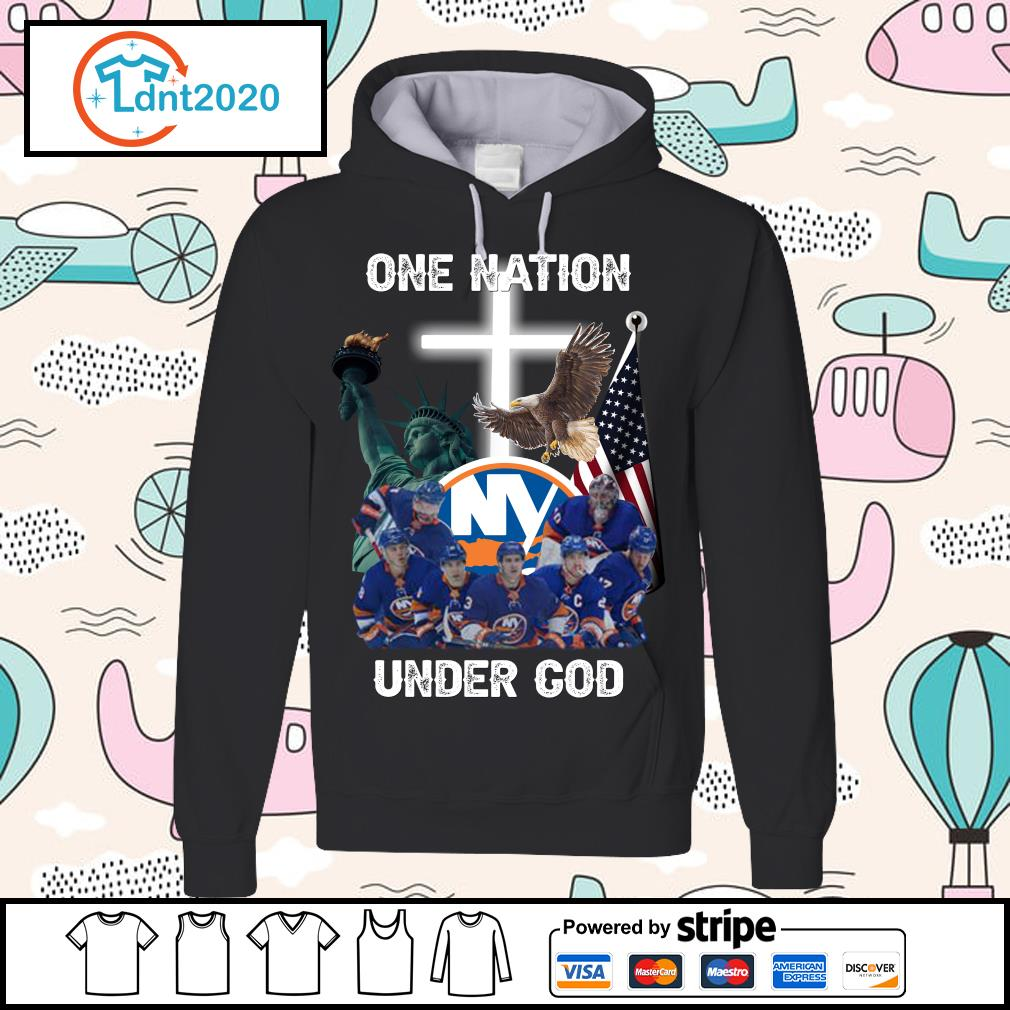 New York Islanders one nation under God s hoodie